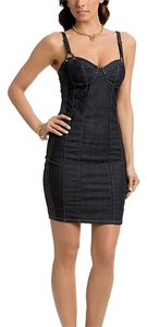 Guess short dress blue dark wash Stretchy on Tradesy