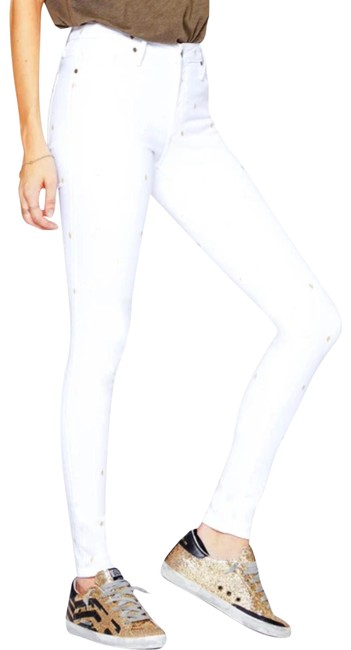 Item - White Jude Crop Mid Rise Ankle Denim Skinny Jeans Size 26 (2, XS)