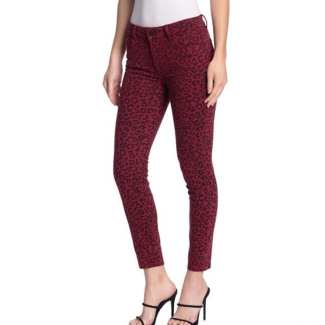 Item - Red Dark Rinse Florence Instasculpt Leopard Skinny Jeans Size 24 (0, XS)