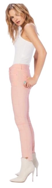 Item - Pink Light Wash The Looker Ankle Step Fray Skinny Jeans Size 24 (0, XS)