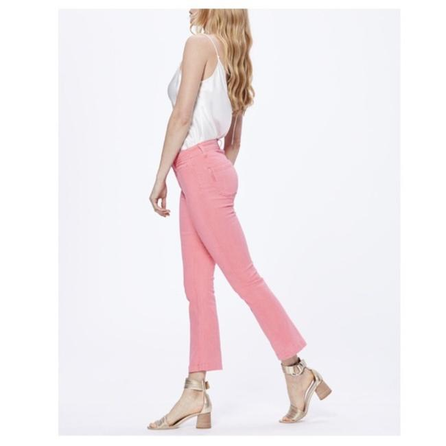 Paige Pink Light Wash Colette Crop Flare Faded Valentine Skinny Jeans Size 24 (0, XS) Paige Pink Light Wash Colette Crop Flare Faded Valentine Skinny Jeans Size 24 (0, XS) Image 2