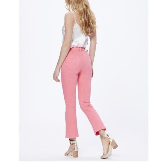 Paige Pink Light Wash Colette Crop Flare Faded Valentine Skinny Jeans Size 24 (0, XS) Paige Pink Light Wash Colette Crop Flare Faded Valentine Skinny Jeans Size 24 (0, XS) Image 3