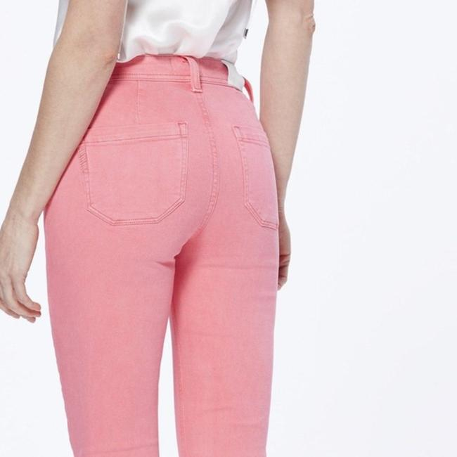 Paige Pink Light Wash Colette Crop Flare Faded Valentine Skinny Jeans Size 24 (0, XS) Paige Pink Light Wash Colette Crop Flare Faded Valentine Skinny Jeans Size 24 (0, XS) Image 4