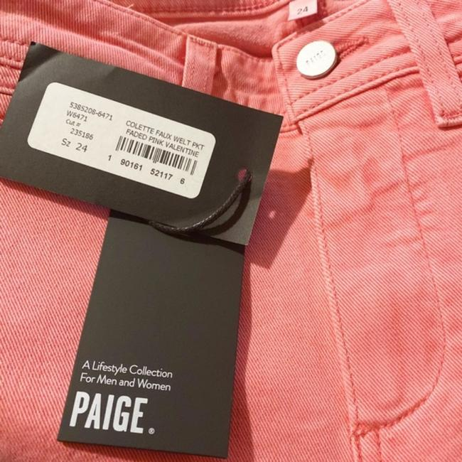 Paige Pink Light Wash Colette Crop Flare Faded Valentine Skinny Jeans Size 24 (0, XS) Paige Pink Light Wash Colette Crop Flare Faded Valentine Skinny Jeans Size 24 (0, XS) Image 6