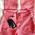 Paige Pink Light Wash Colette Crop Flare Faded Valentine Skinny Jeans Size 24 (0, XS) Paige Pink Light Wash Colette Crop Flare Faded Valentine Skinny Jeans Size 24 (0, XS) Image 9