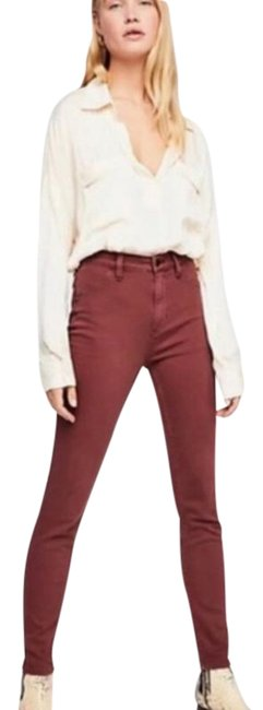 Item - Red Medium Wash Long and Lean Jegging Skinny Jeans Size 24 (0, XS)