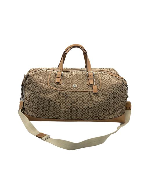 Item - Duffle Voyage Signature Cabin F77115 Tan Canvas Weekend/Travel Bag