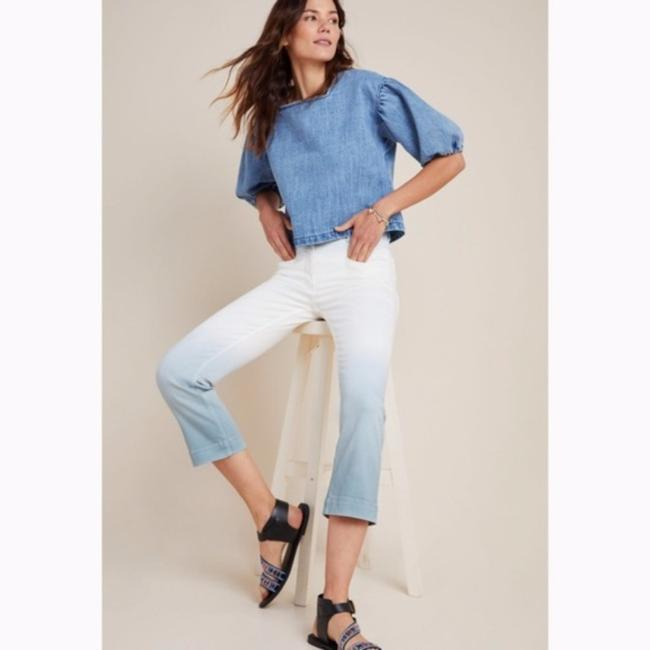 Anthropologie White/Blue Light Wash Anthro Pilcro High Rise Dip Dyed Relaxed Fit Jeans Size 26 (2, XS) Anthropologie White/Blue Light Wash Anthro Pilcro High Rise Dip Dyed Relaxed Fit Jeans Size 26 (2, XS) Image 3