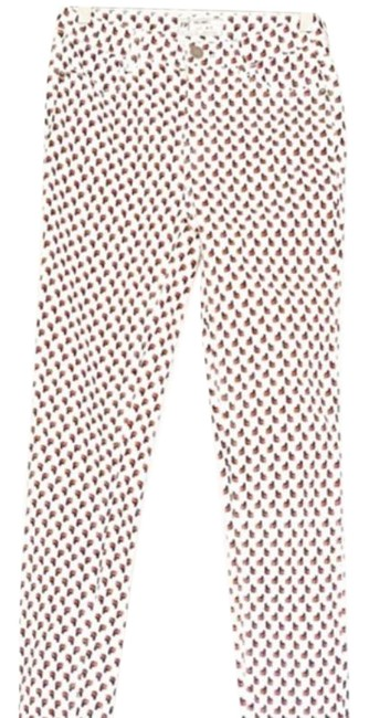 Item - White/Red Light Wash Nwot High Skinny Jeans Size 26 (2, XS)