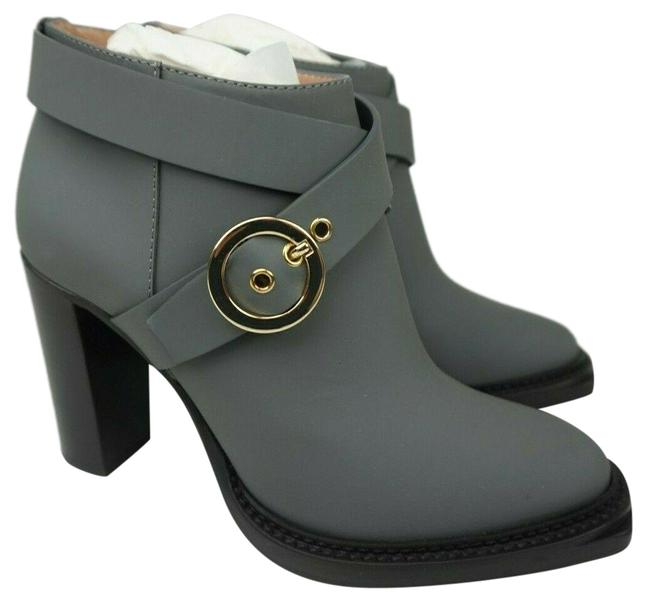 Item - Grey Rubberized Leather Ankle Women's Boots/Booties Size EU 38 (Approx. US 8) Regular (M, B)