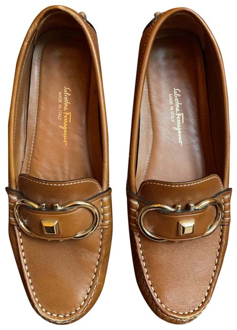 Item - Brown Leather Loafers Flats Size US 6.5 Wide (C, D)