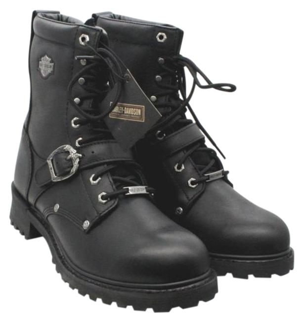 Item - Black Faded Glory Men's Motorcycle Riding Boots/Booties Size US 10 Regular (M, B)