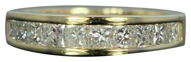 Item - 14k Solid Gold Diamond Channel Set Ring-size 6.75 Ring