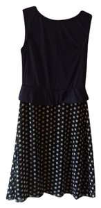 short dress Navy Blue with white polka dots on Tradesy