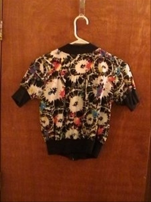 Other Short-sleeved Zip-up Jacket Top Multi- Black, White, Pink, Yellow, Purple, Blue