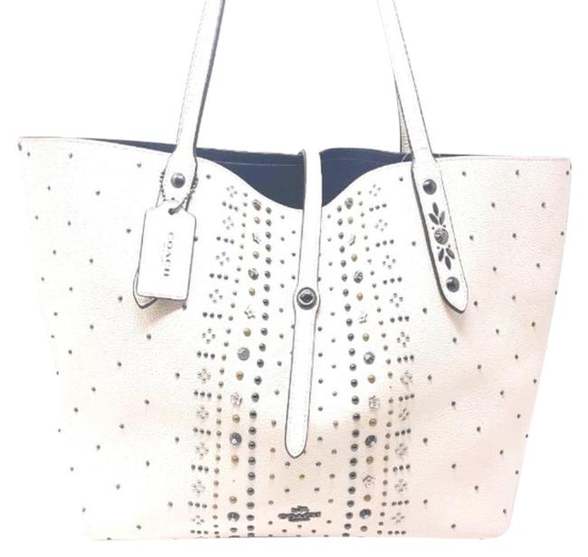 Item - Rogue White Tan Pebbled Leather Tote