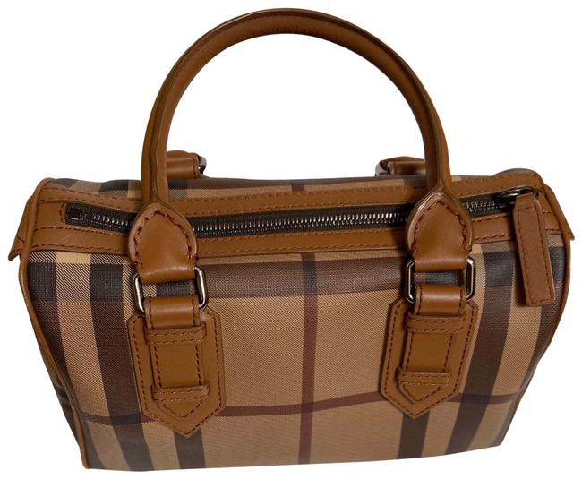 Item - Smoke Check Chester Bowler Brown Coated Canvas and Leather Satchel