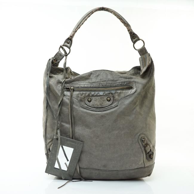 Item - Bag The Day Leather #7797b12 Gray Tote