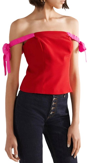 Item - Red Louie Of The Shoulder Ties Pink S Tank Top/Cami Size 4 (S)