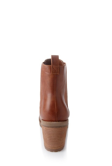 Other Stacked Heel Walnut Boots