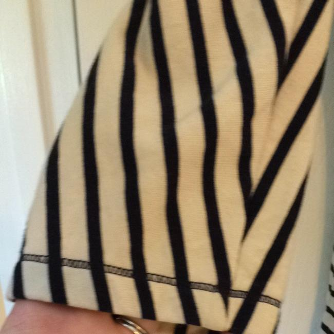 Ann Taylor LOFT short dress Blue And Cream Stripe on Tradesy