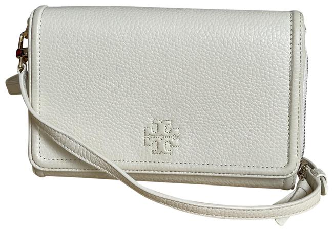 Item - Thea Flat Wallet White Leather Cross Body Bag