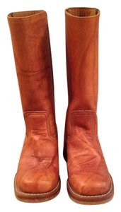 Frye Mid-calf Riding Brown Boots
