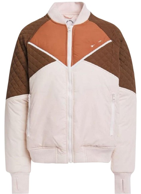 Item - Multicolor Color-block Quilted Shell Activewear Outerwear Size 2 (XS)