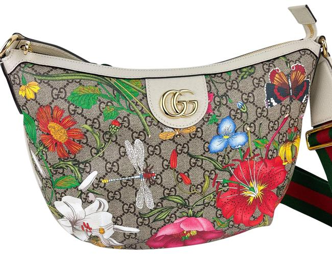 Item - Ophidia Floral Coated New Off White Gg Supreme Canvas Hobo Bag