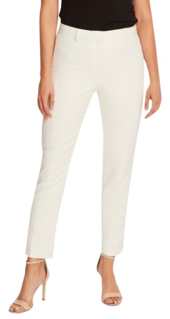 Item - Ivory Zip Ankle Pearl Pants Size 6 (S, 28)