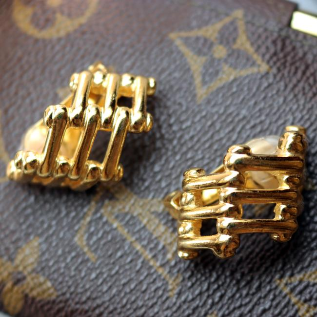 Dior Gold Vintage Christian Bamboo Cage Earrings Dior Gold Vintage Christian Bamboo Cage Earrings Image 6