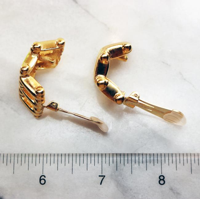 Dior Gold Vintage Christian Bamboo Cage Earrings Dior Gold Vintage Christian Bamboo Cage Earrings Image 9