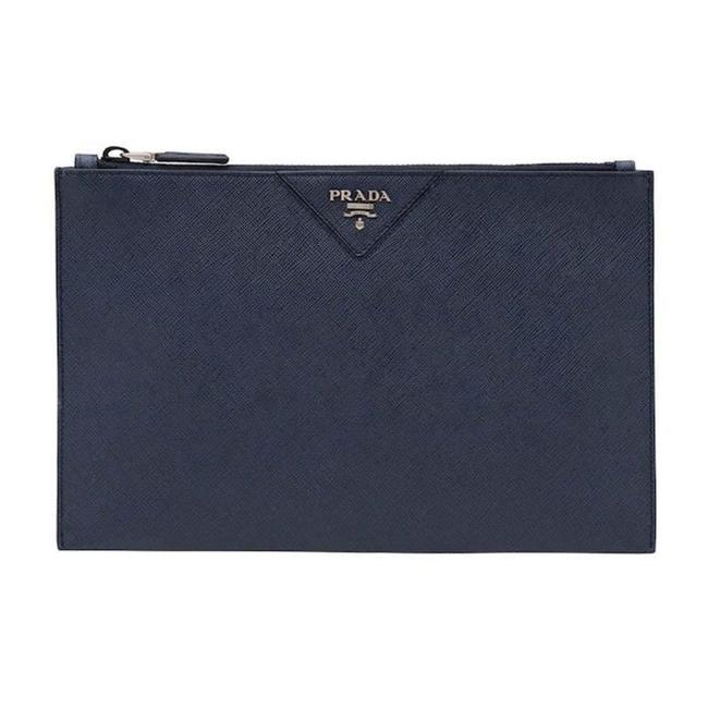 Item - Blue Clutch Saffiano Leather Briefcase 2ng05v