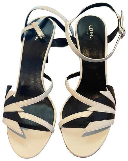 Item - White/Black With Flame 80 Sandals Size EU 38.5 (Approx. US 8.5) Regular (M, B)