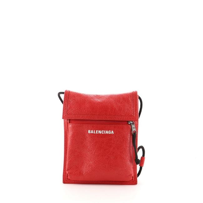 Item - Explorer Strap Pouch Red Leather Cross Body Bag