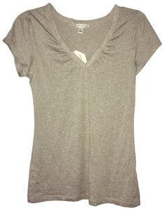 Banana Republic Lace Trim Top tan