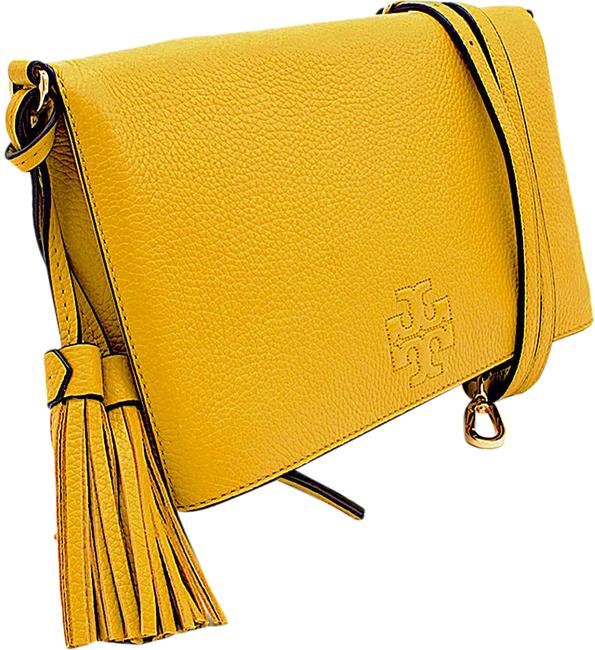 Item - Thea Foldover Yellow with Tag Leather Cross Body Bag