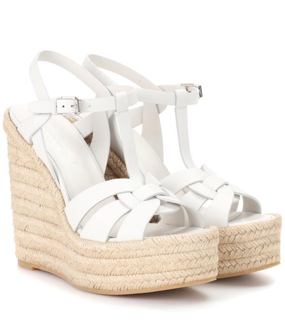 Item - White Tribute 85 Leather Espadrille Wedges Size EU 35 (Approx. US 5) Regular (M, B)