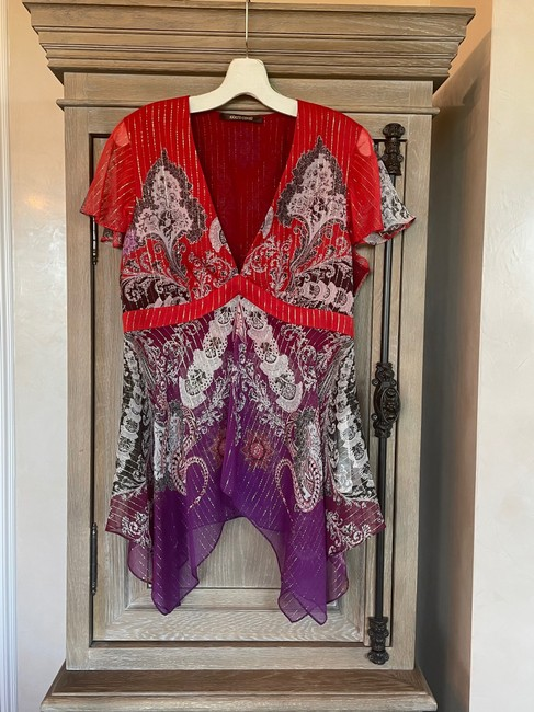 Item - Red Silk Blouse Size 10 (M)