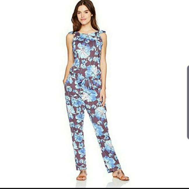 Item - Blue Floral Jumper Cover-up/Sarong Size 6 (S)