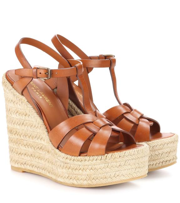 Item - Brown Tribute 85 Leather Espadrille Wedges Size EU 35.5 (Approx. US 5.5) Regular (M, B)