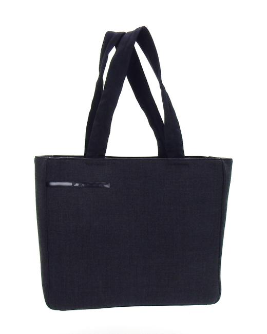 Item - Shoulder Black Gray Canvas and Leather Tote
