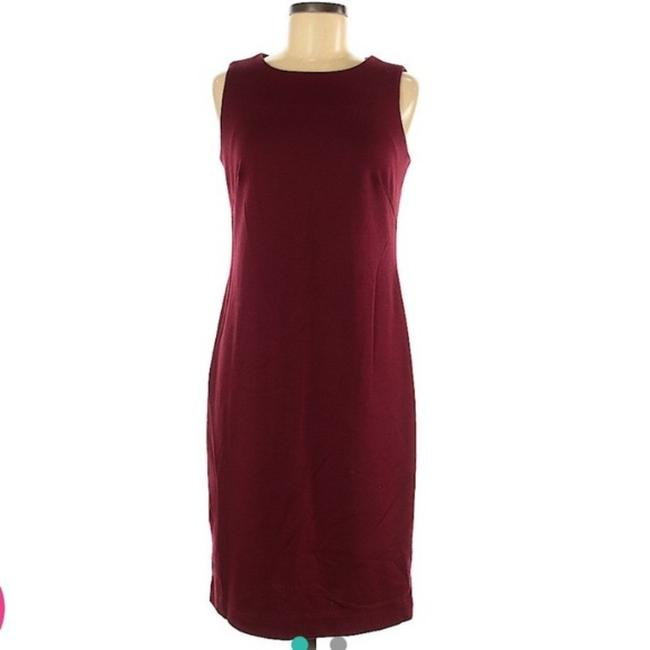 Item - Burgundy Private Mid-length Work/Office Dress Size 2 (XS)