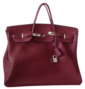 Hermès Hermes Birkin 50 Clemence Satchel in Red