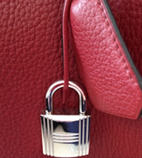 Hermès Birkin 50 Clemence Satchel in Red