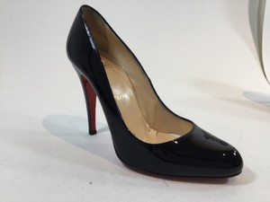 Christian Louboutin Patent Leather Stiletto Decollete Black Pumps