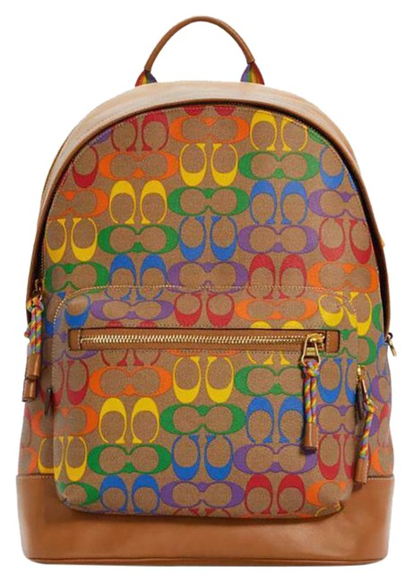 Item - Pride West In Rainbow Signature Canvas Leather Backpack