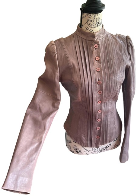 Item - Brown Puff Sleeve Jacket Size 8 (M)