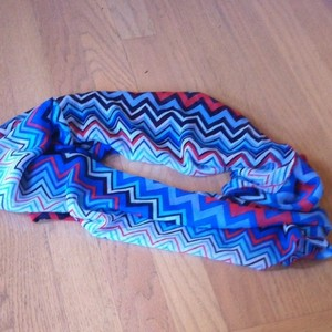 Chevron Tribal Large Triangle scarf in gorgeous trendy colors