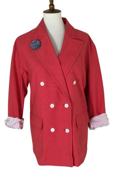 Item - Red Oversized Double Breasted Blazer Size 12 (L)